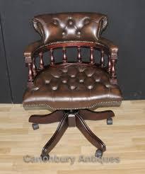 victorian captains chair office swivel desk chairs with leather antique leather swivel desk chair