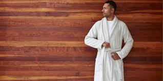bathrobe men kimono robe waffle