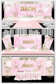Modern minimalist <b>Nordic pink</b> wedding background planning ...