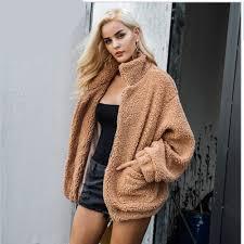 <b>2018</b> New Female Overcoat <b>Faux</b> Lambswool Oversized Jacket ...