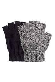 Перчатки/<b>митенки</b>, 2 пары - Черный/Белый меланж - Мужчины ...