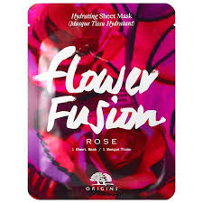 <b>Origins Flower Fusion Rose</b> Hydrating Sheet Mask 1 Sheet Mask ...