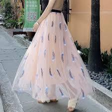 Harajuku summer 2019 Lace Princess <b>long skirts korean streetwear</b> ...