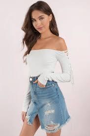 Cute <b>White Bodysuit</b> - <b>Lace Up</b> Sleeves - Long Sleeve <b>Bodysuit</b> ...