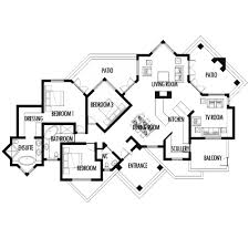 House Plans HQ   Buy Pre Drawn House Plans Online House Plans     bedroom m house plan