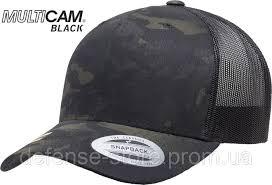 Кепка <b>Yupoong CLASSICS</b> Black Multicam Retro Trucker, цена 640 ...