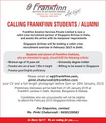 frankfinn placements frankfinn institute frankfinn institute organizing preliminary interviews for singapore airlines