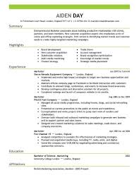 cv templates marketing sample customer service resume cv templates marketing sample cv for marketing manager cv formats templates en resume smart resume2 45