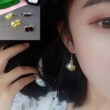 1Pair <b>Creative Korean Fashion</b> Wine Bottle Earrings Resin Hook Ear ...
