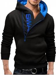<b>IZZUMI</b> Long Sleeve Pocket Front Side Half-Zip Up Hoodie | Mens ...