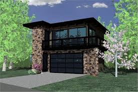 Contemporary Garage w Apartments Modern House Plans   Home Design        House Plan