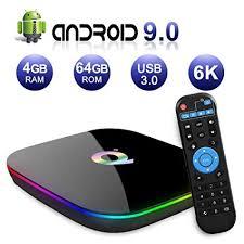 Sidiwen <b>Android 9.0 TV Box</b> Q Plus Smart Media Box 4GB: Amazon ...