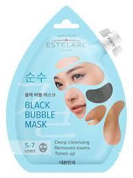 Estelare Черная пенящаяся <b>маска для лица</b> ОЧИЩАЮЩАЯ 20 мл ...