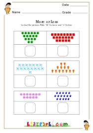 Easy Counting Activity Sheet For Kindergarten,Early Learning ...More or Less