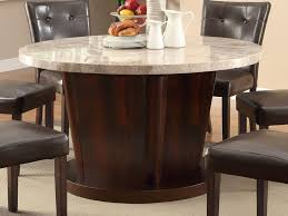 Brown Leather Dining Room Chairs Dining Room Vintage Round Marble Dining Table Top With Wooden