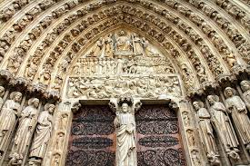 the west facade kings and christian icons cathacdrale de notre dame