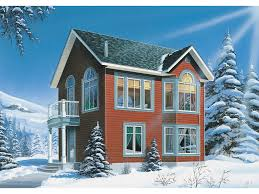 Edmonton Mountain Home Plan D    House Plans and MoreUnique Two Story Home Has Quaint Style And A Steep Pitch Roof