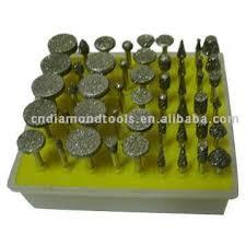 50pcs diamond mounted point dremel rotary tool wheels head dia 0 8 5mm shank 2 35mm head type g tz55