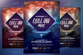 flyer templates psd to com get chillout music flyer template psd