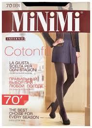 Купить <b>Колготки MiNiMi</b> Cotonfill <b>70 den</b>, размер 4-L, nero (черный ...