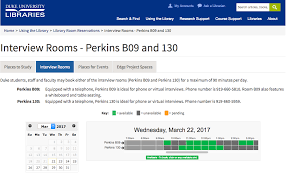 reserve rooms for phone or online interviews duke student affairs perkins web page image