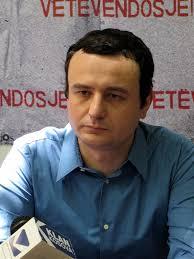 Leader activist of a political movement in Kosovo. - Albin-Kurti