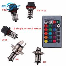 <b>2pcs</b>/<b>set</b> RGB 27 Led <b>Light Bulb</b> SMD 5050 12V Auto Car Fog Light ...