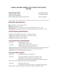 breakupus ravishing job application resume template sample of resume format for job with heavenly sample application resume template sample application college sample resume