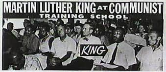 Image result for image of Martin Luther King as a communist
