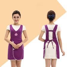 <b>Beauty salon beautician work clothes</b> apron Korean version fashion ...