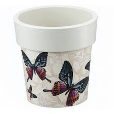 Купить <b>Кашпо ТУБУС</b> ДЕКО 150мм 1,1л (<b>бабочки</b>)(12). Артикул: М ...