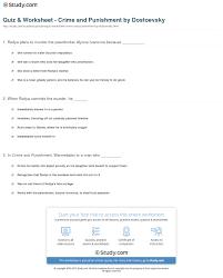 quiz worksheet crime and punishment by dostoevsky com print crime and punishment by dostoevsky summary analysis worksheet
