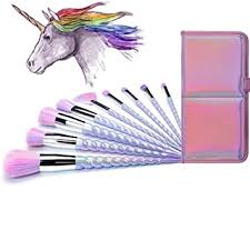 Ammiy Unicorn Makeup Brushes 10pcs With Colorful ... - Amazon.com
