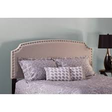 Shop Lani <b>Light</b> Grey <b>Linen</b> Upholstered <b>Headboard</b> with Bed ...