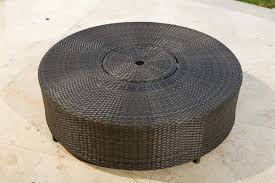 source outdoor circa round wicker coffee table with ice bucket buy source outdoor circa