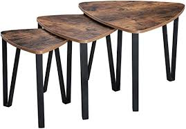 VASAGLE Industrial <b>Nesting</b> Coffee <b>Table</b>, <b>Set</b> of <b>3</b>, End <b>Table</b> ...