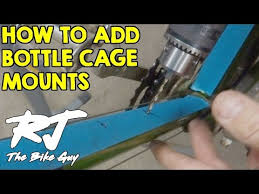 How To Add <b>Bottle</b> Cage Mounts To A <b>Bike</b> Frame - YouTube