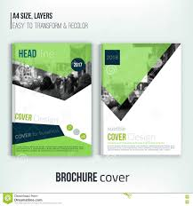 clean brochure cover template blured city landscape and clean brochure cover template blured city landscape and triangular shapes blue corporate identity