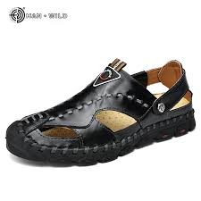 Genuine <b>Leather Mens</b> Casual Summer <b>Shoes New Men's Sandals</b> ...