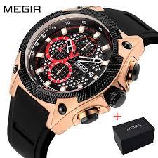 <b>MEGIR</b> 2127 Fashion Luxury <b>Men</b> Watch Sport Chronograph Military ...