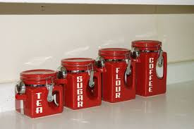 colored kitchen canisters