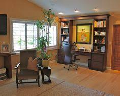 attractive tropical home office with elegant desk combine with built in wall units also modern swivel chair also charming brown armchair also beautiful charming office craft home wall