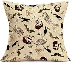 Throw Pillow Covers <b>Halloween</b> Animal <b>Element</b> Cotton Linen ...
