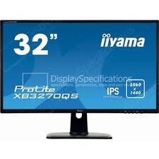 """31.5"""" <b>Iiyama ProLite XB3270QS</b>-<b>B1</b> - Технические характеристики"""