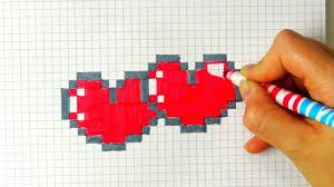 Рисунки по клеточкам <b>сердечки</b> в тетради для начинающих