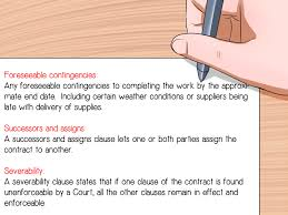 how to write a construction contract steps pictures