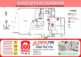 evacuation diagrams   perth fire and safetyevacuation diagram