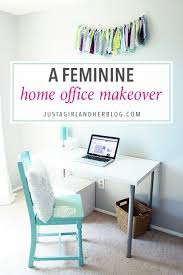love this feminine home office makeover with tons of beautiful and functional storage ideas click beautiful home office makeover