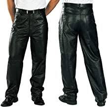 Mens Black Leather Pants - Amazon.com