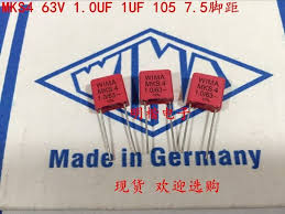 2019 hot sale 10pcs/<b>20pcs</b> German capacitor <b>WIMA MKS4</b> 63V <b>1UF</b> ...